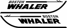 "BOSTON WHALER BOAT DECALS - FITS MANY MODELS 3.5"" x 18"" ( Set of 2 decals)"