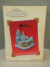 CHRISTMASTIME IN THE CITY - Santa Silhouette - HALLMARK KEEPSAKE ORNAMENT 2003