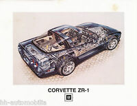 Chevrolet Corvette ZR1 Prospekt 1989 D GB F brochure Autoprospekt Broschüre Auto
