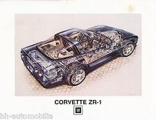 Chevrolet Corvette ZR1 Prospekt 1989 D GB F brochure Autoprospekt Auto PKWs USA