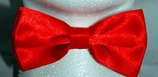 Red PreTied Mens Bow Tie BowTie Pre Tied Adjustable Dickie Wedding Prom NEW UK