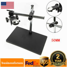Microscope Holder Dual Arm Metal Boom Microscope Table Stand Holder Support Usa