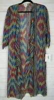 Lularoe Women's Shirley Multi Color Sheer Kimono Size M NWT