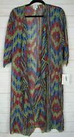 Lularoe Women's Shirley Multi Color Sheer Kimono Size M NWT
