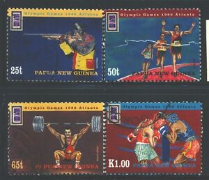 PAPUA NEW GUINEA 898-901 SG785-88 Used 1996 Olympic Games set of 4 Cat$5