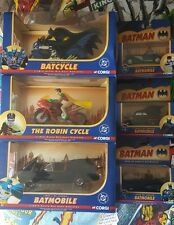 CORGI BATMAN BATMOBILE BATCYCLE ROBIN CYCLE COLLECTION