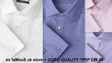 Regular Fit Double Cuff Formal Shirts for Men with Non Iron