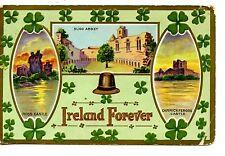 St Patrick's Day Holiday-Ireland Forever-Castle-Sligo Abbey-Vintage Postcard