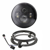 7Inch 80W LED Headlight for Harley Motorbike with Mounting Bracket Ring Black