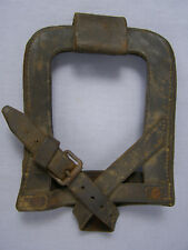 Original Danish Wwi Flat Leather Shovel Carrier Dated 1913?