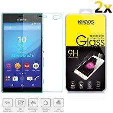 2x KHAOS Premium Ballistic Tempered Glass Screen Protector For Sony Xperia C4