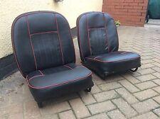 austin healey sprite / midget rebuilt seats 65-68 black / red