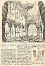 MARSEILLE L' ALCAZAR LYRIQUE ARTICLE DE PRESSE GRAVURE ENGRAVING 1857