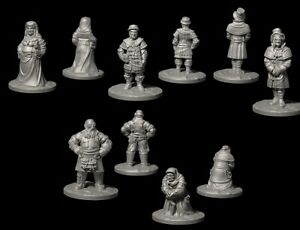 25mm 28mm Wargaming Scenery Frostgrave 3d Printed - Villagers Set 2