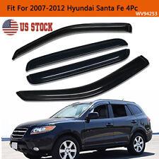 For 2007 2012 Hyundai Santa Fe Smoke Window Visors Sun Rain Guards Vent Shade Fits 2009 Hyundai Santa Fe