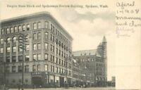 C-1910 Empire State Block Spokesman SPOKANE WASHINGTON Newman postcard 4595