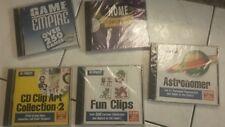 NIP CD Rom 95 sealed package vintage lot 5 clip art game astronomer home design