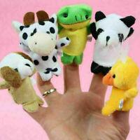 10 Stk FINGERPUPPEN Stofftiere Zoo Tiere Set Handspielpuppe Handpuppe Lot S E8W4