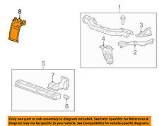 Cadillac GM OEM Radiator Core Support-Center Hood Lock Latch Support 22826611