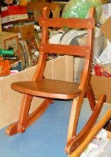 VINTAGE WOOD ROCKING CHAIR CHILD'S TODDLER AMISH WELL BUILT