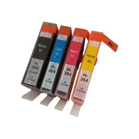 4 Internet-ink Compatible 364 Ink Cartridges to Replace HP 364 For HP Photosmart