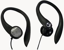 Clip on Earphones - Black Sport Running walking exercise Earphones