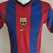 superbe Maillot football Barcelone Football barça  taille 10/12 ans rétro