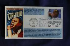 Jazz Musicians Louis Armstrong 32c Stamp FDC Bullfrog Cachet Sc#2984 06712