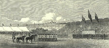 MARCH PAST - RECEPTION OF PRINCE ARTHUR 1872 VICTORIAN ENGRAVINGS