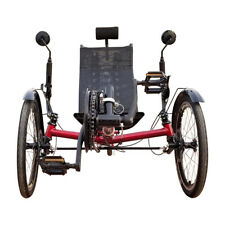 Folding 3 Wheel Bicycles Recumbent Trike with Rear Suspension