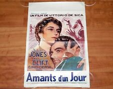 ORIGINAL MOVIE POSTER INDISCRETION OF AN AMERICAN WIFE 1953 FOLDED BELGIAN 1960s