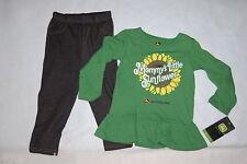 Toddler Girls L/S Outfit JOHN DEERE GREEN Ruffles MOMMYS SUNFLOWER Knit Pants 3T