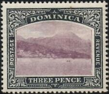 Dominica 1903  3d Dull Purple & Grey-Black  SG.31 Mint (Hinged)  Ordinary Paper