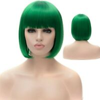 Cosplay Wig Bob Style Stylish Straight Green Synthetic Short Party Wig Hair