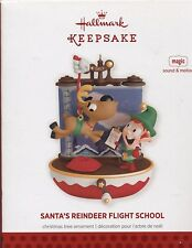 Hallmark Ornament Magic Sound and Motion Santa'S Reindeer Flight School 2013