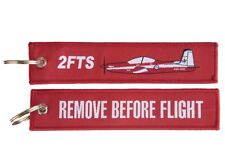2FTS PC-9  Remove Before Flight Woven Key Ring Luggage Tag
