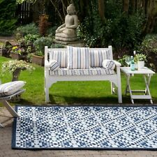 Large Blue Rugs for Outside Garden Summer Indoor Outdoor Flatweave Picnic Mats