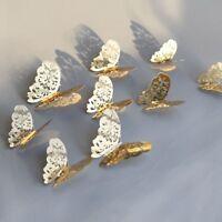 12x 3D Hohlspiegel Schmetterling Aufkleber Kunst Wandaufkleber Abzieh eNwrg