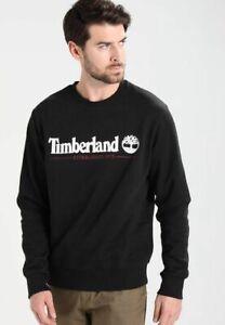 Timberland Mens crew neck sweatshirts Top Black Jumper A1NQJ New Genuine