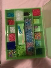 rainbow loom rubber bands kit, Invisible Bands, Multi Color, Clips
