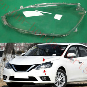 Left Side Headlight Cover Clear PC With Glue replace For Nissan Sentra 2016-19AA