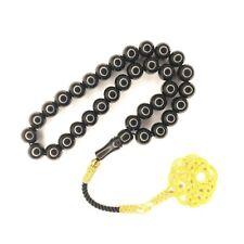 More details for jet tasbih prayer beads, worry beads, kazaziye oltu tesbih jetstone tasbeeh 939