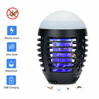 2-in-1 Camping Lantern Bug Zapper Rechargeable Tent Light Mosquito Killer USB