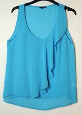 BLUE LADIES CASUAL PARTY TOP BLOUSE SIZE 10 GEORGE
