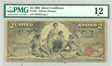 $2 Series 1896 Educational Silver Certificate in comment-free PMG Fine 12 holder