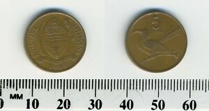 Botswana 1988 - 5 Thebe Bronze Coin - National Arms - Toko left