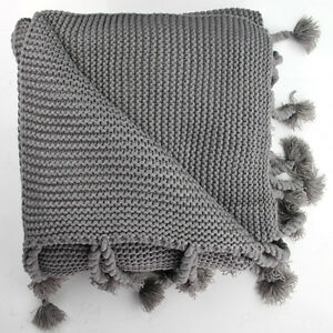 THROW   PICNIC RUG - Thick CHUNKY Knit Luxuriously Soft, BABY PLAY MAT, BLANKET