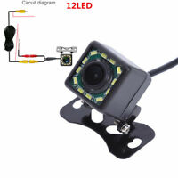HD 12LED Car Rearview Camera LED Night vision Reverse Parking Waterproof CCD Cam