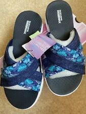 skechers on the go Tropical Sandals size UK 4 EUR 37 Navy/white