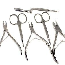 6pcs SOLINGEN MANICURE PEDICURE SET NAIL CUTICLE NIPPERS  SCISSORS PUSHERS FILE